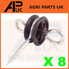 Apuk 8 X Electric Fence Gate Handle Insulators Anchors Tape Screw Poly Rope Fencing Amazon Co Uk Kitchen Home