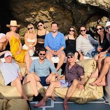 Jeff Bezos and Lauren Sanchez Partying on David Geffen's Yacht