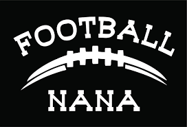Amazon Com Lu Coco Creations Football Nana Vinyl Decal Sticker 7 0 White Automotive