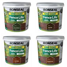 Ronseal One Coat Sprayable Fence Paint Forest Green 5 Litre For Sale Ebay