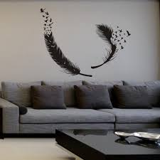 Amazon Com Vinyl Feather Wall Decal Birds Of A Feather Wall Decor Birds Feather Wall Sticker Wall Mural Wall Graphic Room Art Decoration Black Home Kitchen