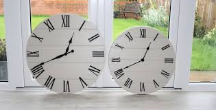 huge contemporary wood wall clock large