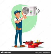 air conditioner repair service vector