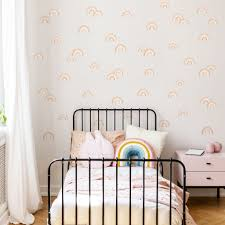 Boho Chic Rainbow Wall Decals In Muted Tones For Neutral Nursery Decor Made Of Sundays