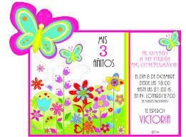 Tarjeta De Invitacion De Cumpleanos Tematica Mariposas Tarjetas