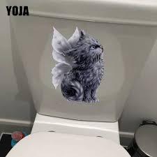 Yoja 19 2 23 1cm Angel Persian Cat Wall Decal Kids Room Decor Creative Cartoon Toilet Sticker T1 0176 Wall Stickers Aliexpress