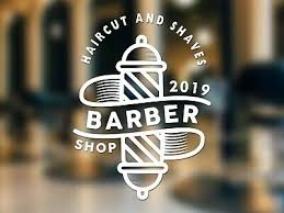 Retail Shop Fitting Barber Window Stickers Shop Sign Decal Salon Traditional Modern Stiker Style A2btravel Ge