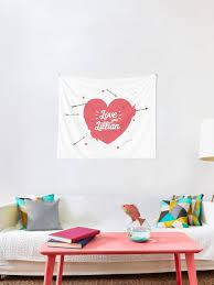 Lillian Is My Love Tapestry By Urosek Redbubble