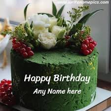 happy birthday cake with name edit free