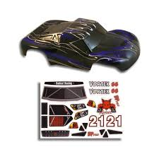 Redcat Racing Part 55901 Rc Truck Body 1 10 Vortex Blue And Black Short Course Decal Walmart Com Walmart Com