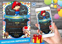 Invitacion Digital Para Cumpleanos De Baby Mario Bross 120 00