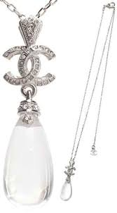 chanel chanel pendant necklace pearl