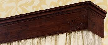 decorative pelmet clyde antique oak