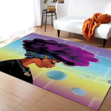 African Women Purple Hair Pattern Carpets For Living Room Bedroom Area Rug Kids Room Play Mat 3d Printed Home Large Carpet Shaw Rugs Afghan Rugs From Hobarte 46 32 Dhgate Com