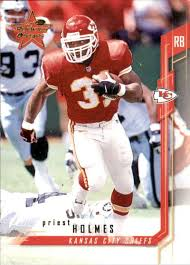 Amazon.com: Football NFL 2001 Leaf Rookies and Stars #69 Priest Holmes #69  EX Chiefs: Collectibles & Fine Art