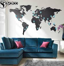 Top 9 Most Popular Large World Map Wall Decal Near Me And Get Free Shipping A786