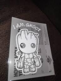 Cartoon Cute Baby Groot Car Decal Guardians Inspired Waterproof Reflective Car Macbook Laptop Motorcycle Sticker I Am Groot Geeksticker