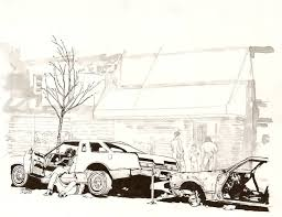 Bronx Hood Drawing by Aaron Birk | Saatchi Art