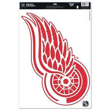Red Wings Xl Logo By Wincraft 12 99 Officially Licensed Detroit Red Wings Ultra Decal Cling Will Stick To Many Sur Red Wing Logo Detroit Red Wings Red Wings