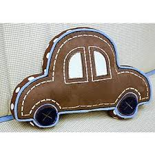 Car Shaped Pillow Pillows Wooden Toy Car Baby Brother