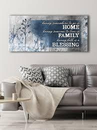 Christian Wall Art Home Blessing Family Wood Frame Ready To Hang Sense Of Art