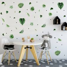 Tropical Decor Leaves Decals Leaf Stickers Green Leaf Wall Decal Modern Wall Decal Leaves Decals S Tropical Decor Modern Wall Decals Woodland Wall Decals