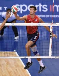 USA Volleyball - Aaron Russell with the tip. Long Beach,...   Facebook