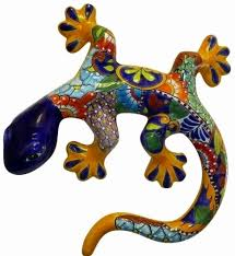 gecko wall art made in mexico colorful