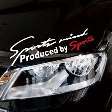 Car Styling Sports Mind Sticker Emblem Badge Decal Auto Headlight Bonnet Sticker Car S Goods Buy At A Low Prices On Joom E Commerce Platform