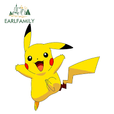 Earlfamily 13cm X 12 7cm Pokemon Anime Car Stickers 3d Vinyl Decals Car Wrap Pikachu Sticker For Car Window Motorcycle Home Buy At The Price Of 1 39 In Aliexpress Com Imall Com