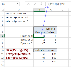simultaneous linear equations in excel
