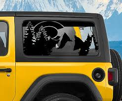 Jk Jl Colorado State Flag Window Hardtop Set Decal For Jeep Wrangler 2007 2020 Ebay