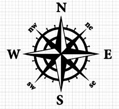 Nautical Compass Decal Sticker Great For Car Truck Available 20 Colors For Sale Online
