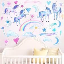 Rainbow Unicorns Wall Stickers Gallery Wallrus Free Worldwide Shipping