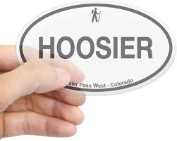 Amazon Com Cafepress Hoosier Pass West Oval Bumper Sticker Euro Oval Car Decal Home Kitchen