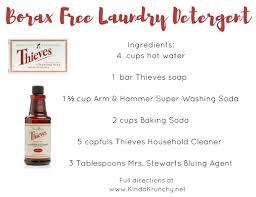 borax free laundry detergent
