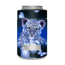 Skin Decal For Yeti 12 Oz Rambler Colster Can Cup Cute White Tiger Cub Butterflies Walmart Com Walmart Com