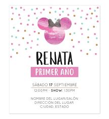 Invitacion Cumpleanos Minnie Pink Disenos Personalizados