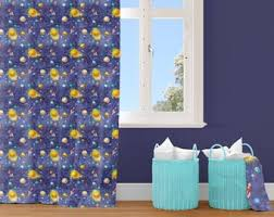 Outer Space Curtains Etsy