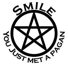 Smile You Just Met A Pagan Vinyl Decal Window Decal Sign Vinyl Permanent Decal Pagan Wicca Witch Norse Druid Pentagram Pagan Wicca Wiccan Crafts