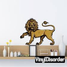 Medieval Lion Wall Decal Vinyl Car Sticker Uscolor001 25 Inches Walmart Com Walmart Com