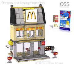 OSS Stickers Lego Custom Burger Fast Food, Instructions, city easy ...