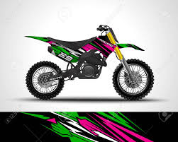 Motocross Wrap Decal And Vinyl Sticker Design Royalty Free Cliparts Vectors And Stock Illustration Image 146279735