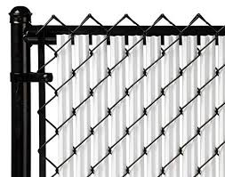 6ft White Ridged Slats For Chain Link Fence Continue To The Product At The Image Link Chain Link Fence Fence Slats Fence Design