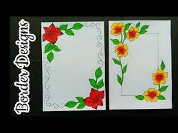 border designs for project
