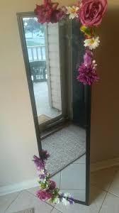 mirror diy fake flowers gift idea