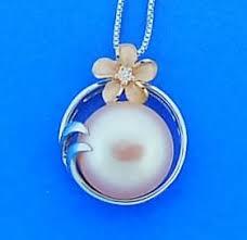 denny wong plumeria pearl pendant