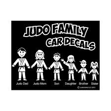 Judo Family Car Decals White Judo Market