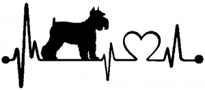Schnauzer Heartbeat Lifeline Dog Car Or Truck Window Decal Sticker Rad Dezigns