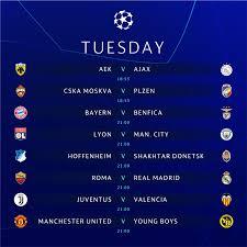 Champions League: le partite di martedì 27 novembre